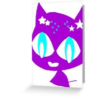 Purple kitten Greeting Card