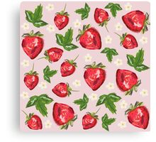 Strawberry Botanical Canvas Print
