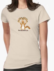 A bit of Squirrel love Womens Fitted T-Shirt