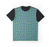 Coarse  Checkered Plaid Fabric  Graphic T-Shirt