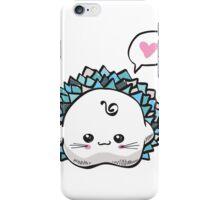 kawaii cute hedgehog on a white background iPhone Case/Skin