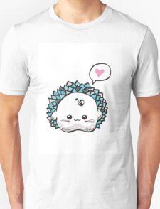 kawaii cute hedgehog on a white background Unisex T-Shirt