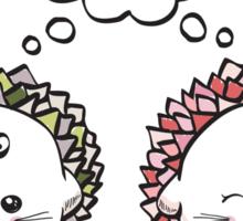 kawaii cute love hedgehog on a white background Sticker