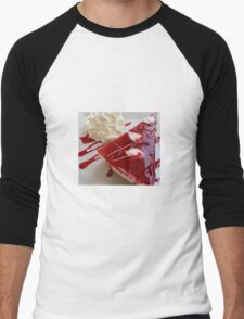 Raspberry Cheesecake And Fresh Cream Men's Baseball ¾ T-Shirt