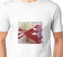 Raspberry Cheesecake And Fresh Cream Unisex T-Shirt