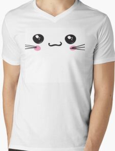 kawaii icon, cute attractive face, white background vector Mens V-Neck T-Shirt