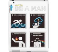 be a man iPad Case/Skin