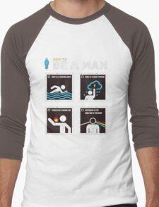 How to Be a Man Men's Baseball ¾ T-Shirt