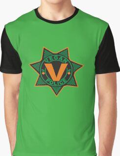 Vegan Police Graphic T-Shirt
