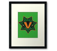 Vegan Police Framed Print