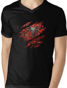 Spiderman Ripped Mens V-Neck T-Shirt