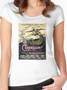 French Vintage Poster 1899 Restored Women's Fitted Scoop T-Shirt