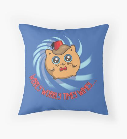 Doctor Mew Throw Pillow