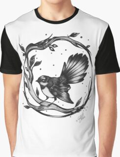 New Zealand Fantail Graphic T-Shirt