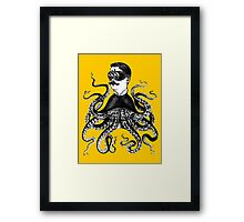 Vintage Squid Man Framed Print
