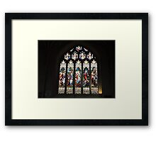 Bath Cathedral Stained Glass Framed Print