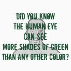 Did you know the human eye can see more shades of green than any other color? - Lorne Malvo - Fargoo by FandomizedRose