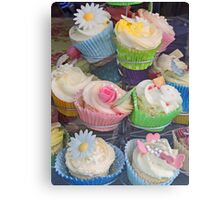 Colourful Cupcake Stand Canvas Print