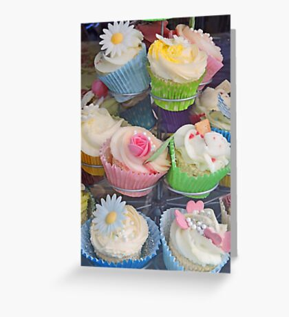 Colourful Cupcake Stand Greeting Card