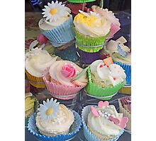 Colourful Cupcake Stand Photographic Print