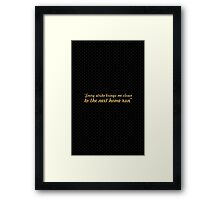 """Every strike brings... """"Babe Ruth"""" Life Inspirational Quote Framed Print"""