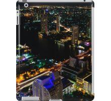 Night view over Bangkok city, Thailand iPad Case/Skin