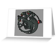Toothless Targaryen Greeting Card