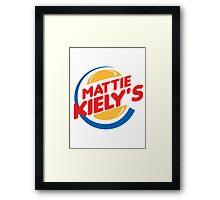 Mattie Kiely: King of the Burger Framed Print