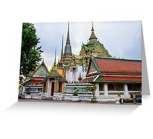 Wat Pho or the Temple of Reclining Buddha in Bangkok, Thailand Greeting Card