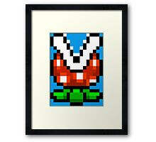 Piranha Plant pixel pattern Super Mario world Framed Print