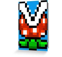 Piranha Plant pixel pattern Super Mario world Greeting Card