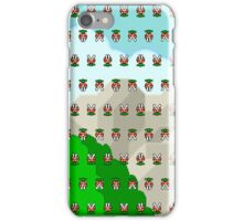 Piranha Plant pixel pattern Super Mario world iPhone Case/Skin
