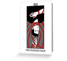 Sterek- The hanged man tarot card print Greeting Card