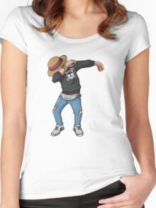 -DAB- Luffy  Women's Fitted Scoop T-Shirt