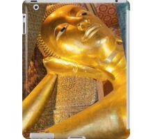 Face of Reclining Buddha gold statue, Bangkok, Thailand iPad Case/Skin