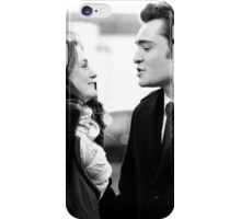 Blair and Chuck Black & White.  iPhone Case/Skin