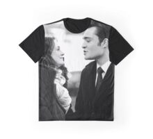 Blair and Chuck Black & White.  Graphic T-Shirt