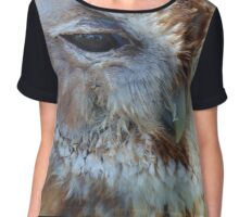 Keeping A Close Eye On You - Tawny Owl Chiffon Top