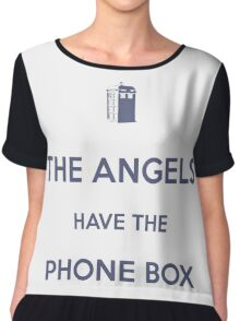 The Angels have the Phone Box - Weeping Angels - Doctor Who Chiffon Top