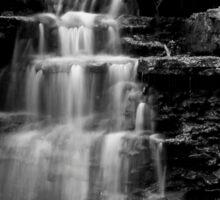 Waterfall in B & W Sticker