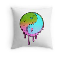 Psychedelic Yin-Yang Throw Pillow