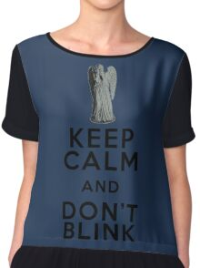 Keep Calm and Don't Blink - Weeping Angels - Doctor Who Chiffon Top