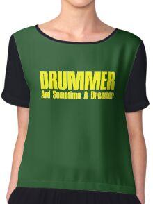 Drummer  Dreamer yelloy Chiffon Top