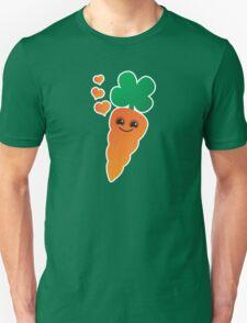 Cute kawaii orange carrot with cute hearts Unisex T-Shirt