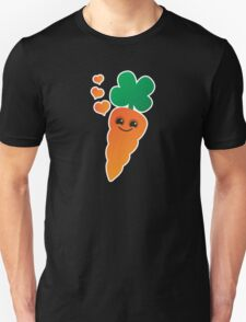 Cute kawaii orange carrot with cute hearts Unisex T-Shirt