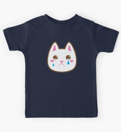 Super cute Chibi Kawaii kitten SAD :( Kids Tee