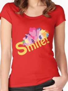 Smile! with Pinkie Pie Women's Fitted Scoop T-Shirt