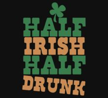 Half IRISH half DRUNK Baby Tee