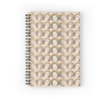 Four Heads in Gold Spiral Notebook