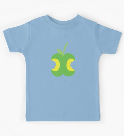 Twice bitten apple fruit with bites taken out Kids Tee